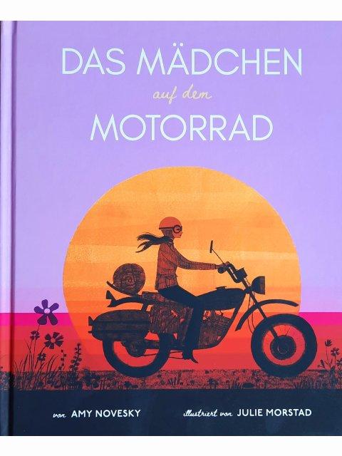 Das Mädchen auf dem Motorrad