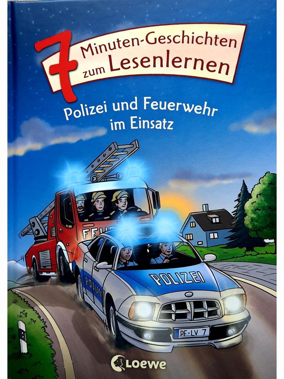 7-Minuten-Geschichten zum Lesenlernen - Polizei und Feuerwehr im Einsatz