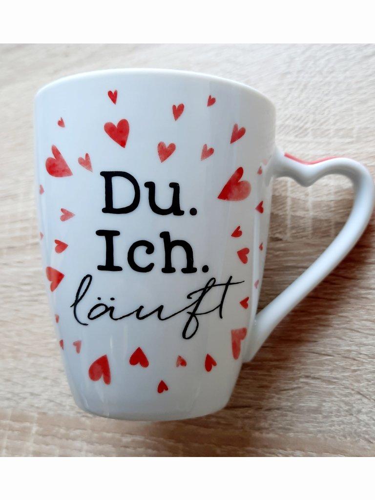 """Tasse """"Du. Ich. Läuft"""""""