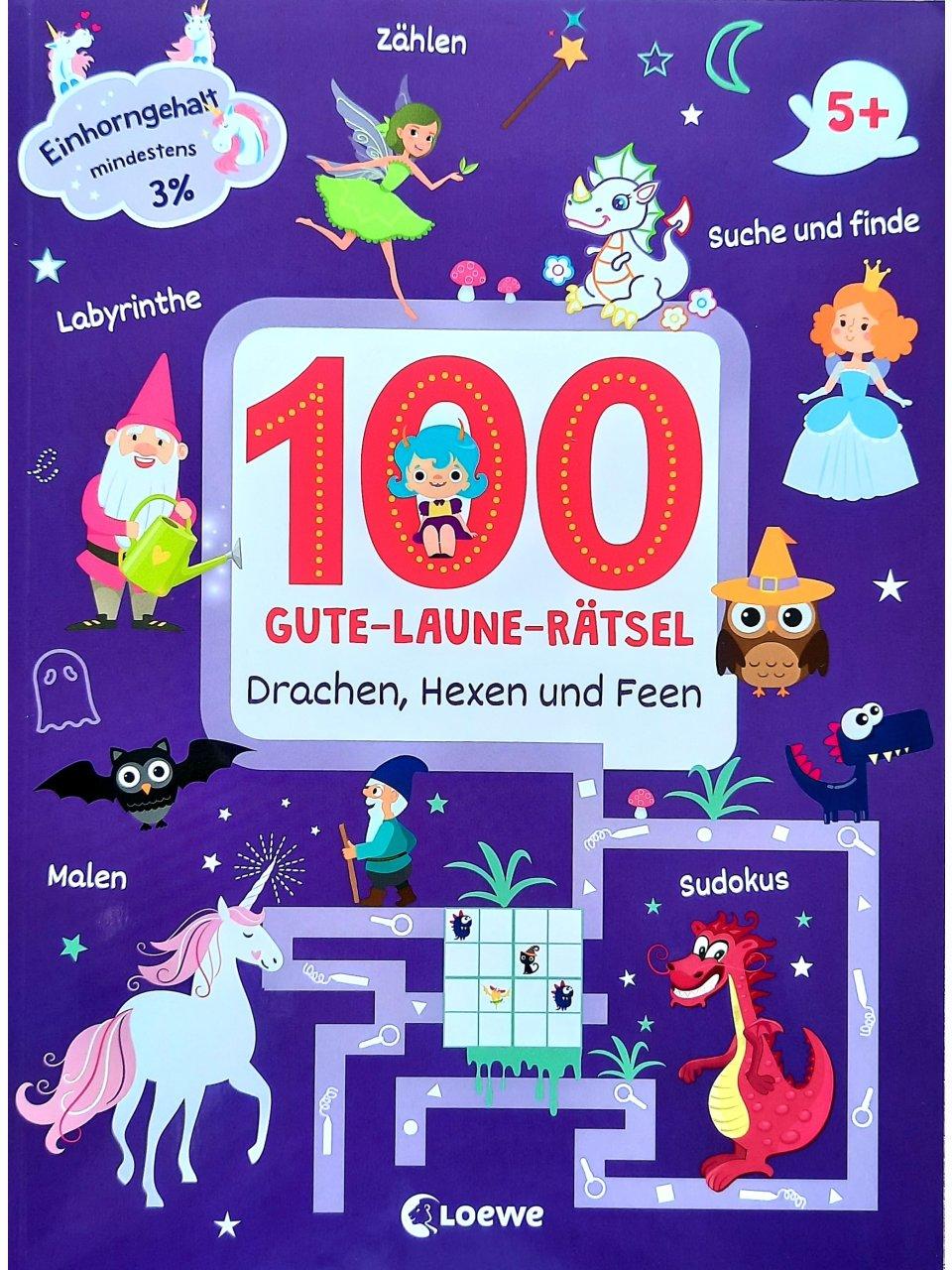 100 Gute-Laune-Rätsel - Drachen, Hexen und Feen