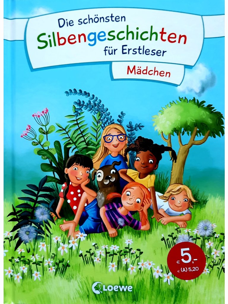 Die schönsten Silbengeschichten für Erstleser - Mädchen