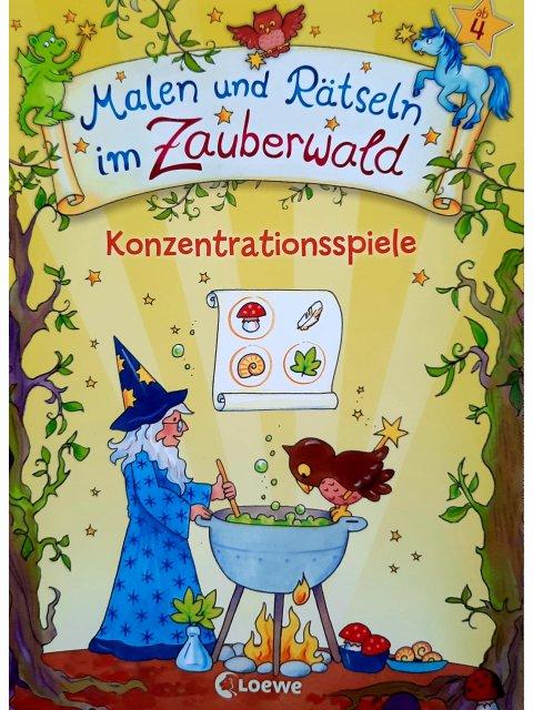 Malen und Rätseln im Zauberwald - Konzentrationsspiele