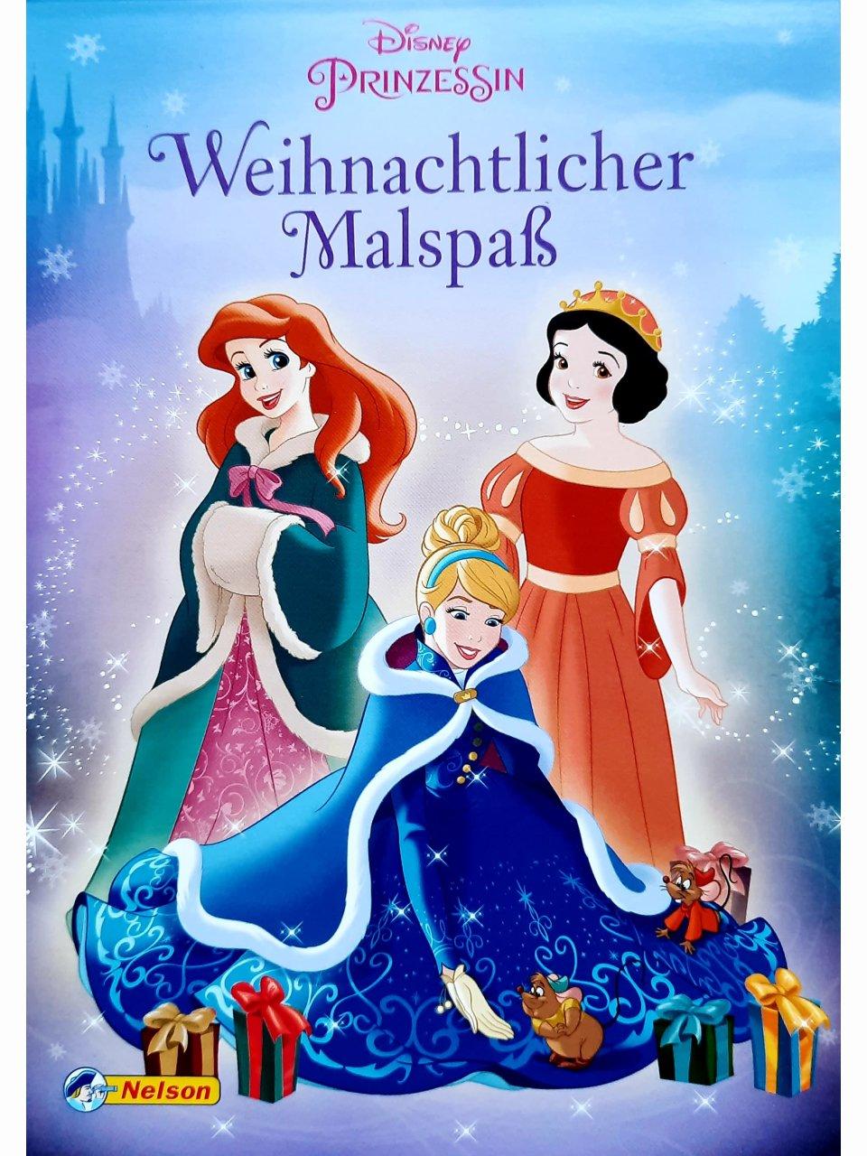 Disney Prinzessin - Weihnachtlicher Malspaß